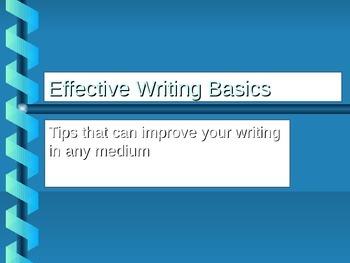 Five Keys to Effective Writing