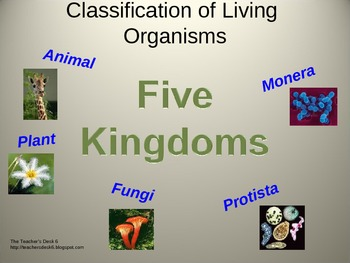 Five Kingdoms... Classification of Living Organisms