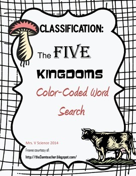 Five-Kingdoms Color-Coded Word Search