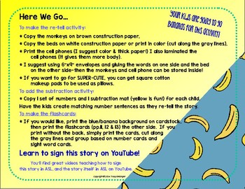 Five LIttle Monkeys Cross-Curricular Kit