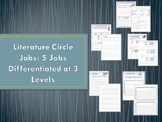 Five Literature Circle Jobs Differentiated at Three Levels