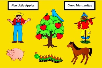 Five Little Apples - Cinco Manzanitas