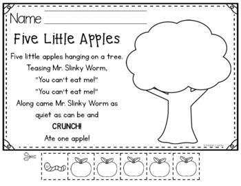 Five Little Apples Pocket Chart