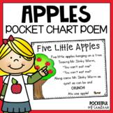 Five Little Apples Pocket Chart Poem