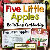 Five Little Apples --- Craftivity with Stick Puppets & Re-Telling Props