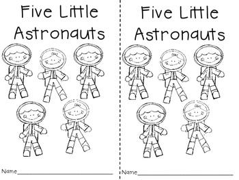 Five Little Astronauts Poem and Activities
