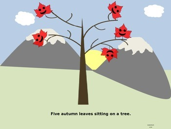 Five Little Autumn Leaves PowerPoint
