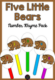 Five Little Bears Number Rhyme & Puppets