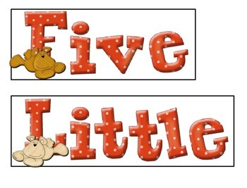Five Little Bears (A Counting Pocket Chart Activity)