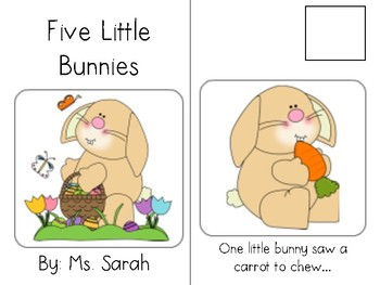 Five Little Bunnies-Adapted Book