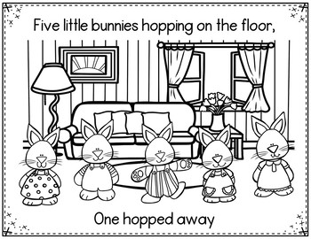 Five Little Bunnies (Pocket Chart and Book Making Activity)