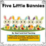 Five Little Bunnies Poem, Student Books, Puppets, and More!