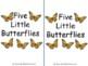 Five Little Butterflies emergent reader butterfly rhyming story
