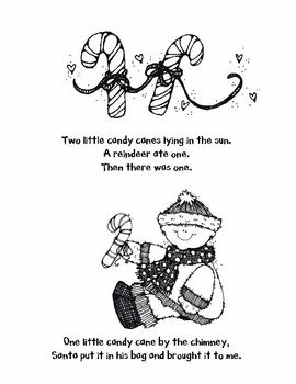 Five Little Candy Canes Emergent Reader