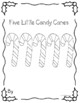 Five Little Candy Canes Literacy and Subtraction for Early