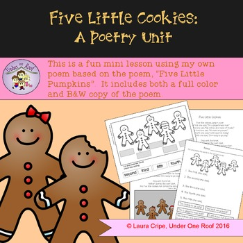 Five Little Cookies: A Gingerbread Poetry Unit