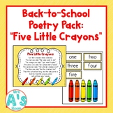 Five Little Crayons Poetry Pack