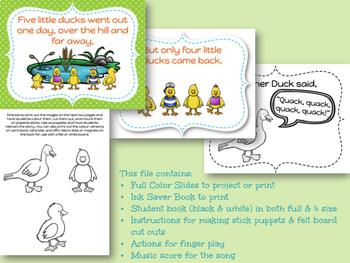 Five Little Ducks - A Singing Book