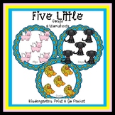 Five Little Ducks, Dogs & Pigs Print & Go Kinder SPED/Autism/ODD/SLD/SLP/ELD