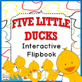 Five Little Ducks Flip Book for Preschool and Kindergarten Speech Therapy