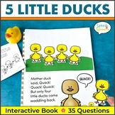 Five Little Ducks Flip Book for Preschool and Kindergarten