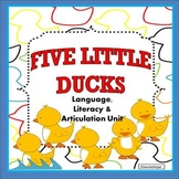 Five Little Ducks Speech and Language Activities Unit