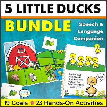 Five Little Ducks Speech and Language Activities Unit