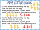 Five Little Ducks Literacy and Math Bundle of Fun
