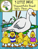 Circle Time Songs - Five Little Ducks Went Out to Play Felt Board Images
