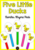 Five Little Ducks Number Rhyme & Stick Puppets