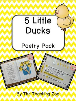 Five Little Ducks Poetry Pack