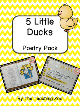 Five Little Ducks Poetry Pack