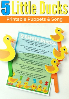 Five Little Ducks Puppets and Song