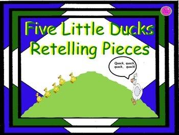 Five Little Ducks Retelling Pieces