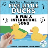 Five Little Ducks Song (Circle Time, Puppets, Counting, Social Skills)