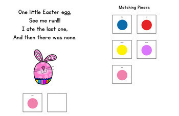 Five Little Easter Eggs: Adapted Book for Early Childhood Special Education