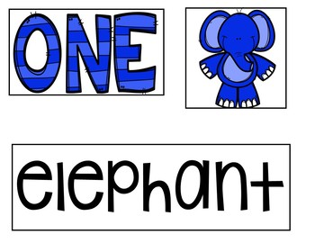 Five Little Elephants (FREEBIE Pocket Chart Activity)