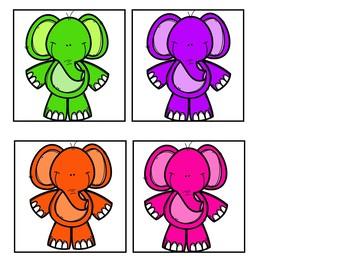 Five Little Elephants (FREEBIE Pocket Chart Activity)