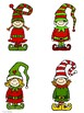 Five Little Elves Jumping on the Sleigh