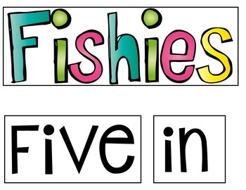 Five Little Fishies (FREEBIE Pocket Chart Activity)