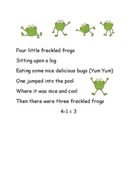 Five Little Freckled Frogs