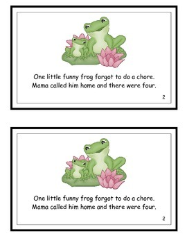 Five Little Funny Frogs Guided Reader for Fr initial blend