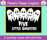 Five Little Ghosties - Halloween Emotional Literacy & Counting Rhyme