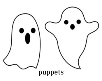 Five Little Ghosts: A poem with printable puppets and book