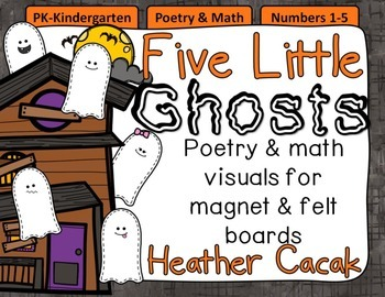 Five Little Ghosts Felt & Magnet Board Activity (Math & Literacy)