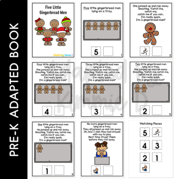 Five Little Gingerbread Men: Adapted Book for Students with Autism