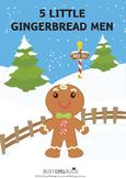Five Little Gingerbread Men Bundle including Pocket Chart