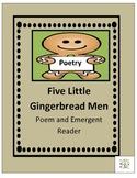 Five Little Gingerbread Men Poem and Emergent Reader
