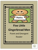 Five Little Gingerbread Men Poem and Emergent Reader