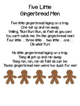 Five Little Gingerbread Men poem